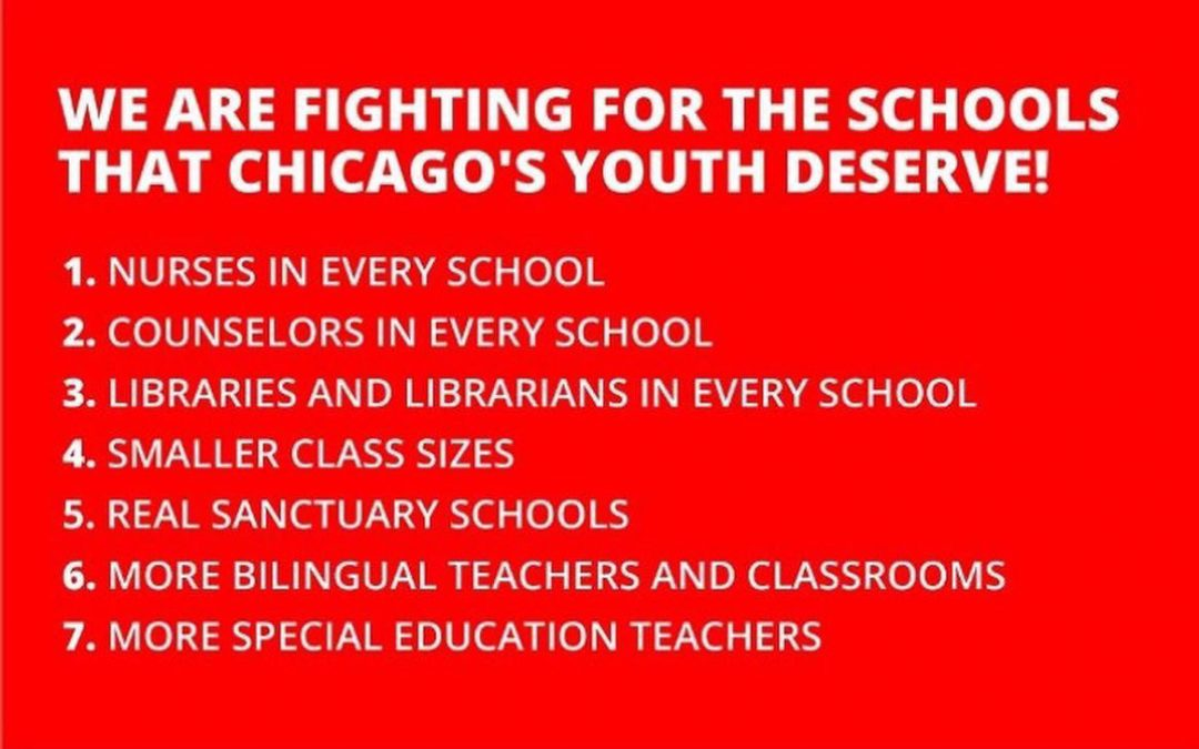 The Illinois Poor People's Campaign supports Chicago's teachers and staff in their demands for the common good.